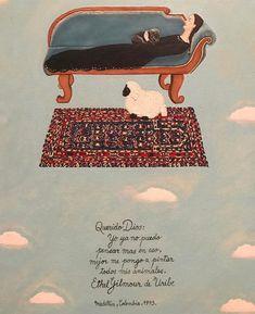 """Catalina Casas on Instagram: """"Querido Dios, Yo ya no puedo pensar más en eso. Mejor me pongo a pintar todos mis animales, Ethel Gilmour. Museo Nacional"""" Cata, Movie Posters, Movies, Instagram, Dear God, Thinking About You, Museums, Get Well Soon, Animales"""