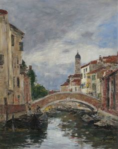 Eugene Boudin - Small Channel in Venice