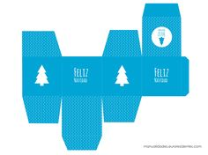 cajita de navidad en azul