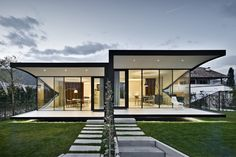 Mirror Houses front nightrr