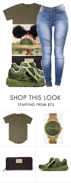 """"" by glowithbria ❤ liked on Polyvore featuring Nixon, MICHAEL Michael Kors and Puma"
