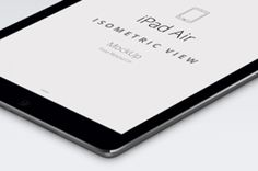 This is the perspective version of our psd iPad Air vector mockup template with a white silver iPad Air and a...