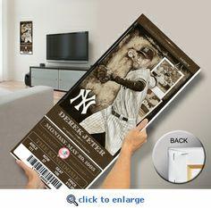 Derek Jeter Artist Series Mega Ticket - New York Yankees