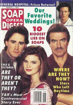 J. Eddie Peck, Heather Tom, & Eric Braeden (Cole, Victoria, & Victor #YR) 3/1/94 http://classicsodcovers.tumblr.com/