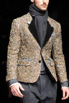 Details Dolce & Gabbana Fall 2012 Menswear