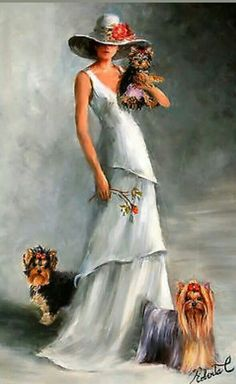 Yorkshire Terrier – Energetic and Affectionate Biewer Yorkie, Yorkie Puppy, Art Deco Paintings, Yorky, Silky Terrier, Fashion Wall Art, Happy Puppy, Pretty Art, Dog Art