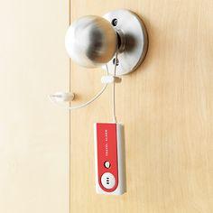 Motion Sensitive Portable Travel Alarm. #gift #lock