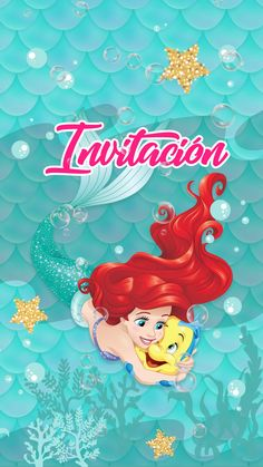 Emily y esmeralda Mermaid Theme Birthday, Frozen Birthday Party, Mickey Mouse Birthday, Unicorn Birthday, Unicorn Party, Birthday Party Invitations, Mickey Invitations, Little Mermaid Invitations, Balloon Garland