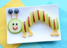 Healthy food art for kids crafts snacks ideas Cute Snacks, Snacks For Work, Cute Food, Food Art For Kids, Cooking With Kids, Easy Food Art, Toddler Meals, Kids Meals, Deco Fruit