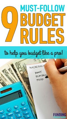 9 Simple Budget Rules to Help you Win with Money – Finance tips, saving money, budgeting planner Living On A Budget, Family Budget, Frugal Living, Making A Budget, Create A Budget, Budget Help, Budgeting Finances, Budgeting Tips, Money Tips