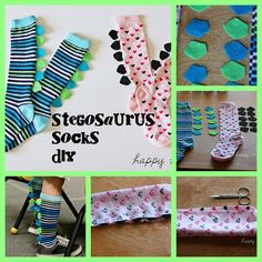 Dinosaur Party Ideas: sock favors