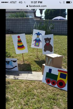 Boy first birthday life-size cutout posters painting