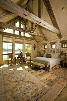 Fern Creek Cottage: A Rustic French Barn House in Texas. Barn House = Dream home. Cottage Style Bedrooms, Home Bedroom, Bedroom Ideas, Dream Bedroom, Bedroom Decor, Rustic Bedrooms, Texas Bedroom, Huge Master Bedroom, Bedroom 2018