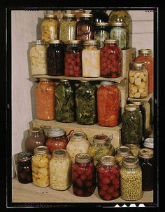 Canning,a homemaking celebration of hard work and divine blessing.