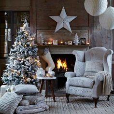 Tis' the season.....to be #Cozy Cozy Christmas, Country Christmas, Beautiful Christmas, Christmas Holidays, Scandinavian Christmas, Modern Christmas, Christmas Christmas, Christmas Fireplace, Outdoor Christmas