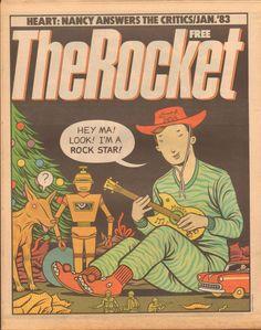 The Rocket, January 1983. Illustration: Charles Burns.