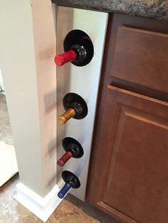 my brothers friend made this wine rack so cool.