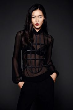 Loving this new shot of Liu Wen wearing La Perla in her official portrait for #EML2013 Elite Model Look International