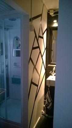 """Dc-fix-kontaktilla kylpyhuoneen seinän """"tapetointi"""". DIY"""