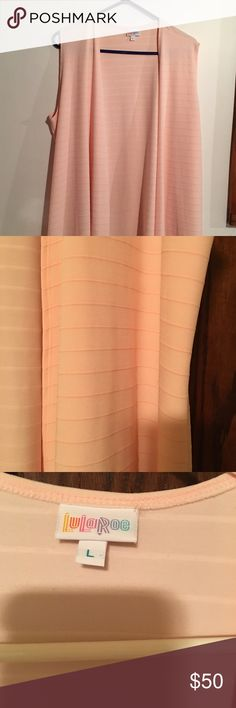PRICE DROP!!!! Lularoe Joy Light peach, ribbed, worn once excellent condition LuLaRoe Other