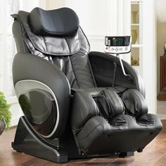 Cozzia CZ-810 Zero Gravity Massage Chair - Black Color, Cozzia advanced massage mechanism travel up and down your full back, upper back and lower back,bring you amazing spa massage experience.Four independent rollers in Cozzia advanced shiatsu mechanism tr..., #Home & Garden, #Armchairs