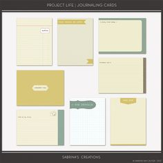 Oscraps :: Shop by Category :: All New :: Project Life | Journal Cards