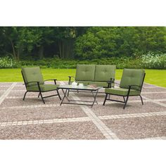 For the backyard. Mainstays Patterson Heights 4-Peice Folding Patio Conversation Set, Seats 4
