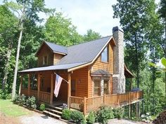 ****All the things I absolutely need: screen room, large wrap-around porches, walk-out lower level on a lovely wooded hill (for coming in with boots, gear, etc.), big windows, fireplace, an upstairs, and a view!!!