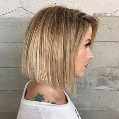 Blunt Blonde Bob Haircut