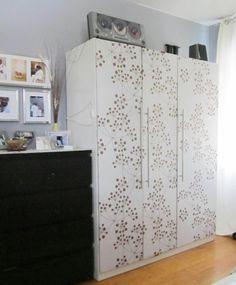 Ikea dombas wardrobe reformed with stencils