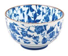 Set van 6 schaaltjes Mixed Bowl, blauw/wit, Ø 12,7 cm