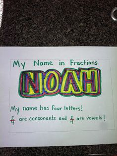 Fun craft activity for fractions