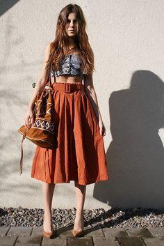 <3 the high waisted skirt