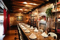PrepKitchen Little Italy - Throw a lively dinner party for 26 in the study or take over the restaurant (150 people max) at Prepkitchen Little Italy, where family-style home cooking makes up the seasonal menu. Do dinner here first, followed by more celebratory drinks after at one of Little Italy's many watering holes.