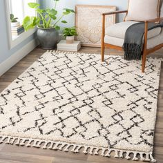Ivory Moroccan Berber Shag Rug Collection Boasting versatile colors of soft beige and dramatic black, the Ivory Moroccan Berber Shag Area Rug gives any room an extra dose of drama, coupled with a . Cream Area Rug, Beige Area Rugs, All Modern, Modern Decor, Kids Craft Tables, Berber, Polypropylene Rugs, At Home Store, Rug Cleaning