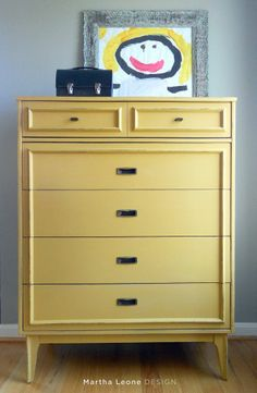 Dresser {Revived} with the {Perfect Shade of Yellow!}