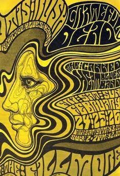Psychedelic concert poster, grateful dead 1967