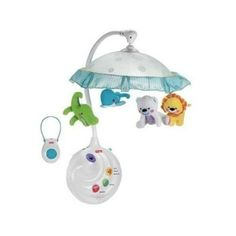 NEW! Planet Projection Mobile w/ Remote Mobile Crib Jungle Lights Sound Soothing