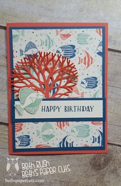 Seaside Shore meets Thoughtful Branches by lizzier - Cards and Paper Crafts at Splitcoaststampers