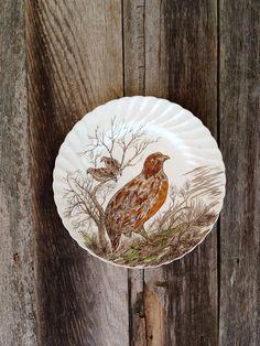 vintage 1960s Quail Bird Plate