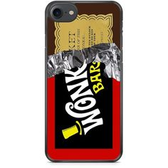 Wonka Bar Golden Ticket iPhone 7 case (282.000 IDR) ❤ liked on Polyvore featuring accessories and tech accessories