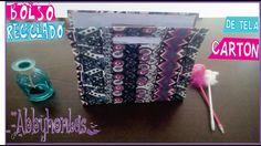 FÁCIL✔Bolso de CARTÓN hecho CON TELA★ para FIESTA★RECICLAJE✔ CARTONAJE✔✔ Lunch Box, Tela, Cartonnage, Recycling, So Done, Fiesta Party, Manualidades