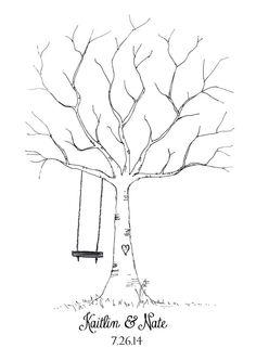 Thumbprint Tree Wedding Guest Book Teacher by kearaharris on Etsy, $10.00