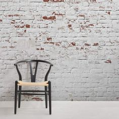 This white Warehouse Brick Wallpaper, is a cool textured brick mural that will effortlessly create an urban chic vibe. Exposed brick style that is very on trend. Standard Wallpaper, Normal Wallpaper, How To Hang Wallpaper, White Wash Brick, White Brick Walls, Red Walls, Black Brick Wallpaper, Brick Wallpaper Mural, Bedroom Wallpaper