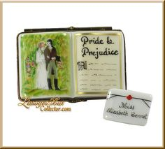 "Pride and Prejudice Limoge Box...I have a few of these ""trinket boxes"" I Love this one (my favorite story)...need to start collecting again..."