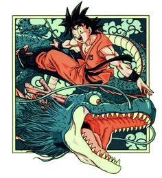 Goku and Shenlong | Dragon Ball Z