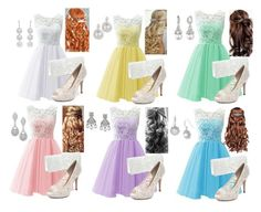 """""""Prom - Pastels"""" by briony-jae ❤ liked on Polyvore"""