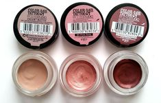the best cream eyeshadow base primers from the drugstore? Who needs MAC paint pots! http://megsbeautycorner.blogspot.co.uk/2016/01/review-and-swatches-maybelline-colour.html