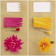 DIY Crepe-Paper Flowers(via Martha Stewart)