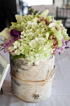 a great flower combo and you get the rustic feel...from style me pretty.com